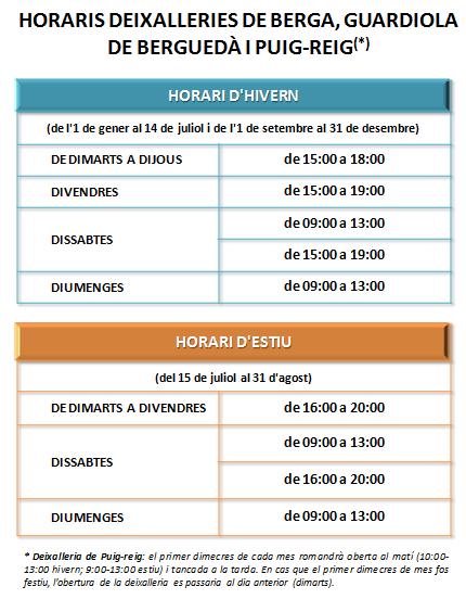HORARIS DEIXALLERIES BERGUEDÀ.ED2