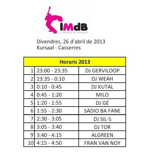 horaris moguda electronica 2013