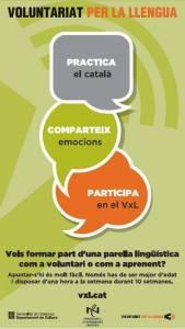 cartell voluntariat llengua
