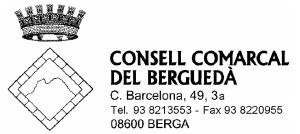 escut ccberguedà adreça bn