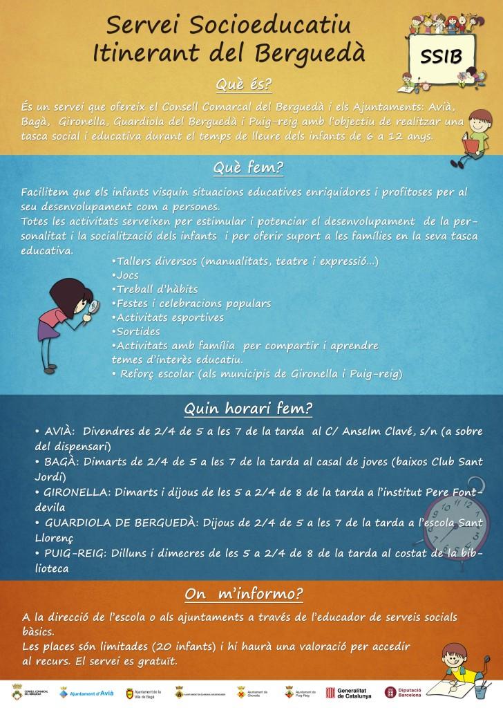 CARTELL servei socioeducatiu berguedà