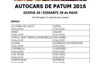 cartell autocars patum 2016