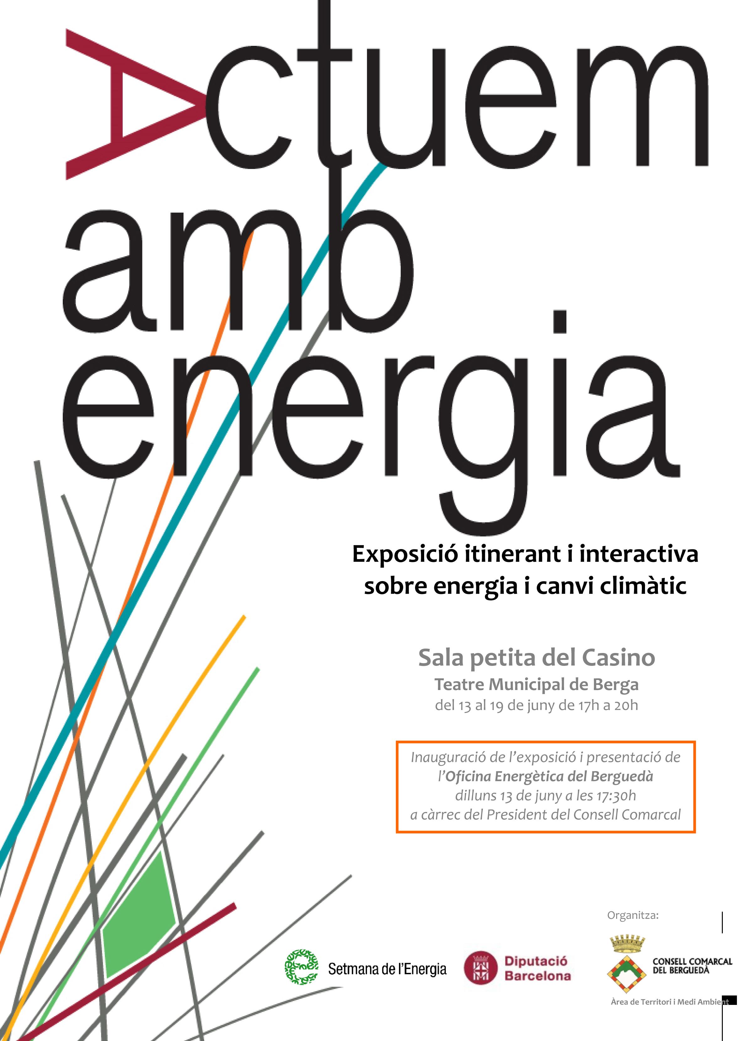 Cartell exposició Actuem amb energia 2016