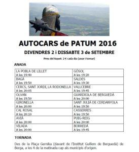 autocars patum 2016