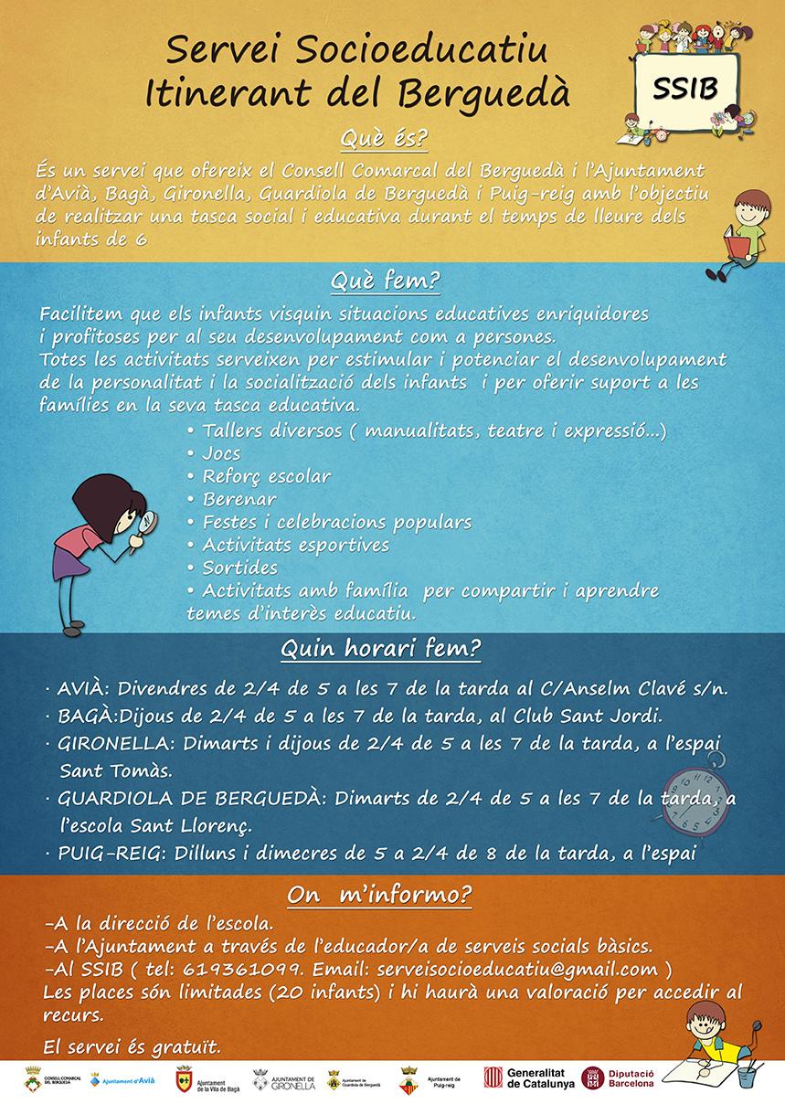 CARTELL WEB - EL SERVE SOCIOEDUCATIU ITINERANT DEL BERGUEDÀ