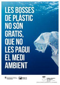 cartell bosses plastic 212x300 - Entra en vigor l'obligatorietat de pagar les bosses de plàstic de nanses a tots els comerços