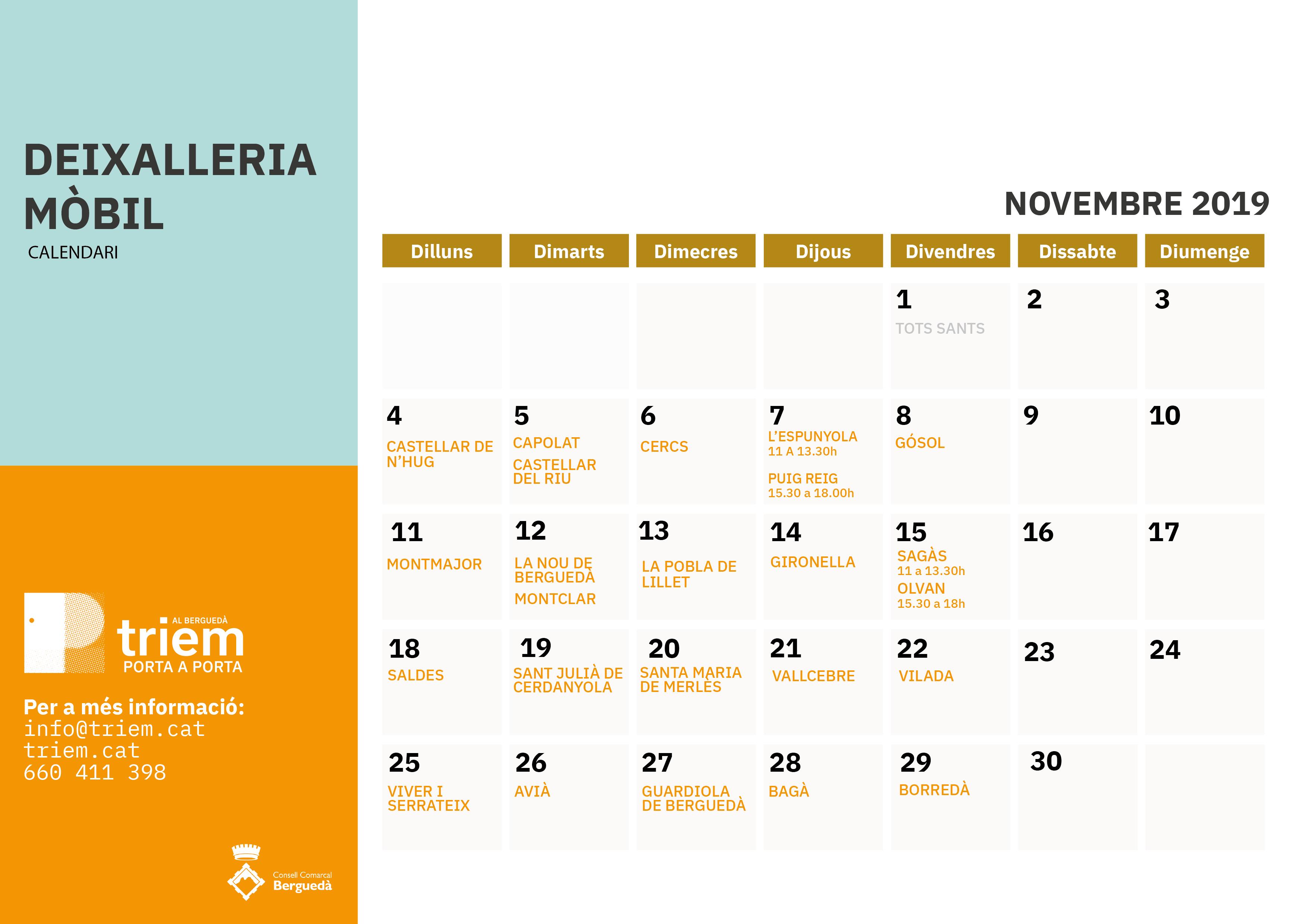 DEIXALLERIA MÒBIL NOVEMBRE 2019