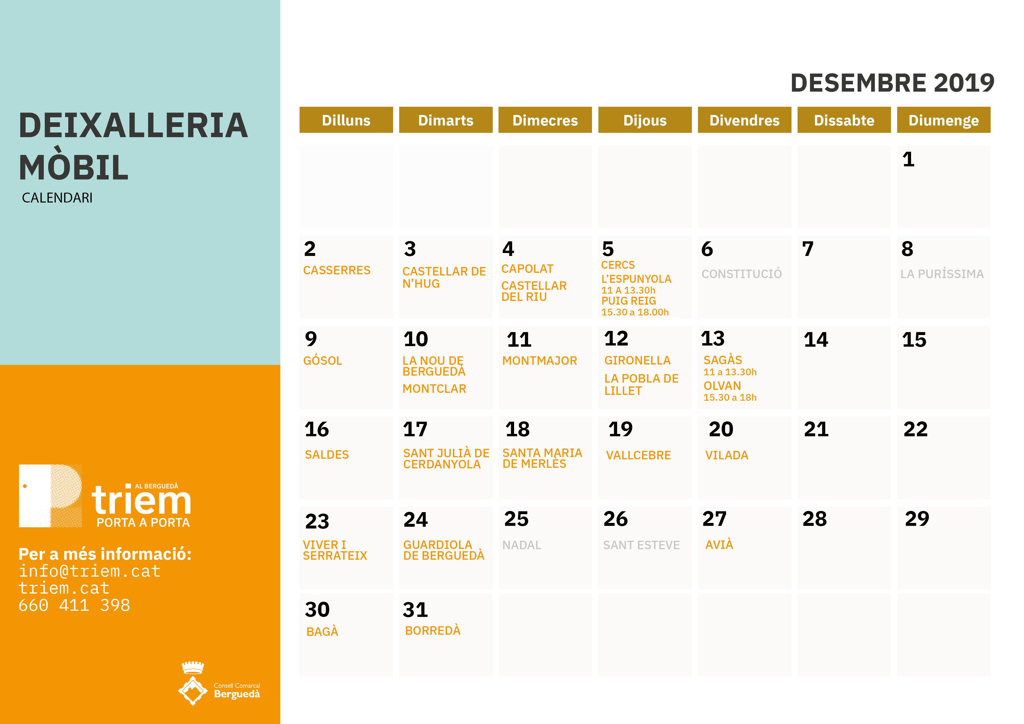 DEIXALLERIA MÒBIL DESEMBRE 2019