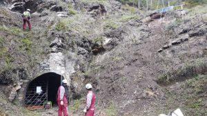 Treballs a la mina de Riutort