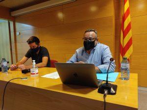 Per la dreta, Josep Lara, president del Consell Comarcal amb Ivan Sànchez, alcalde de Berga